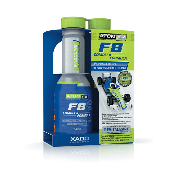 additif carburant atomex f8 complex formula essence xado france. Black Bedroom Furniture Sets. Home Design Ideas