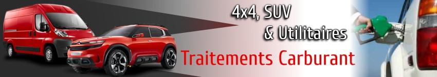 Traitements et additifs carburant pour 4x4 SUV et utilitaires