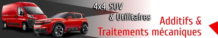 Additifs et traitement mécaniques pour 4x4 SUV et utilitaires