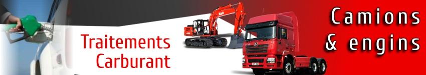 Traitements et additifs carburant pour camions et engins