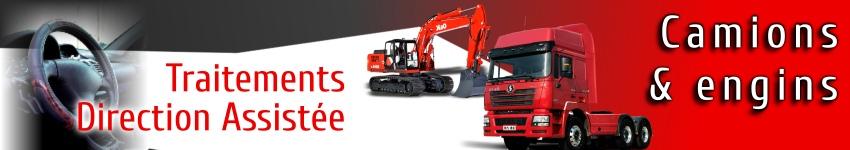 Traitements et additifs direction assistee pour camions et engins