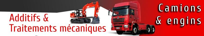 additifs et traitements mécaniques XADO pour camions poids lourds et engins