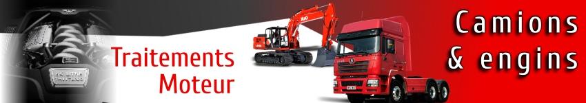 Traitements et additifs moteur pour camions et engins
